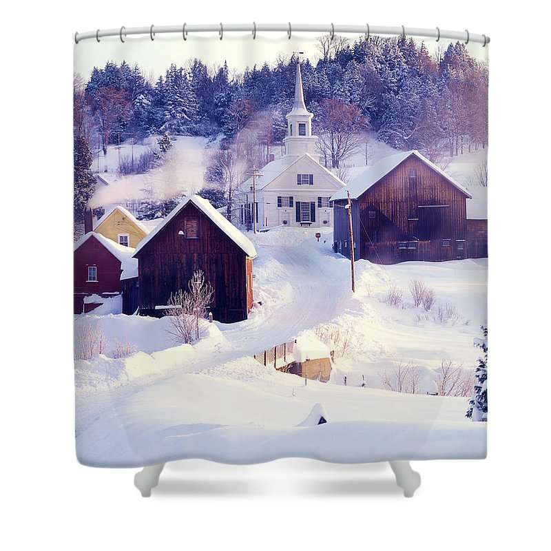 Waits River Shower Curtain featuring the photograph Waits River Vt by George Robinson