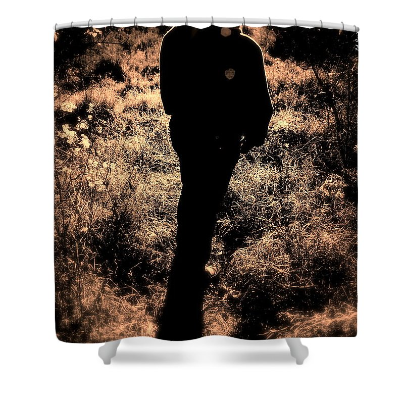 Walk Shower Curtain featuring the photograph Walk In The Park by Ed Smith