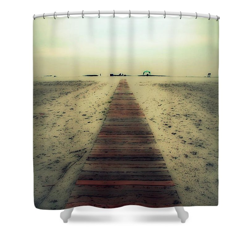 Nature Shower Curtain featuring the photograph Walk With Me by Linda Sannuti