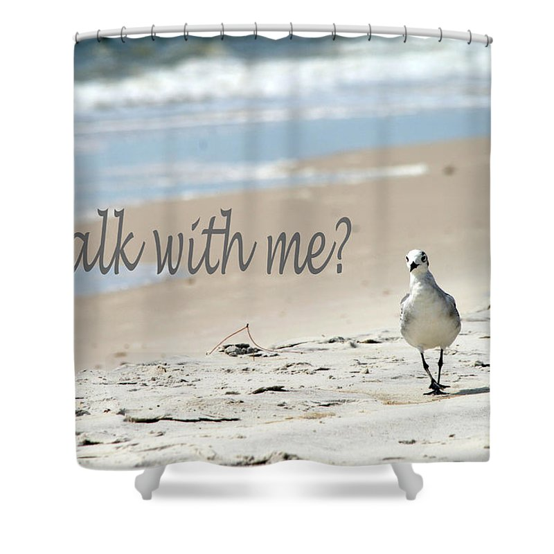 Seagull Shower Curtain featuring the photograph Walk With Me by Shirley Sykes Bracken