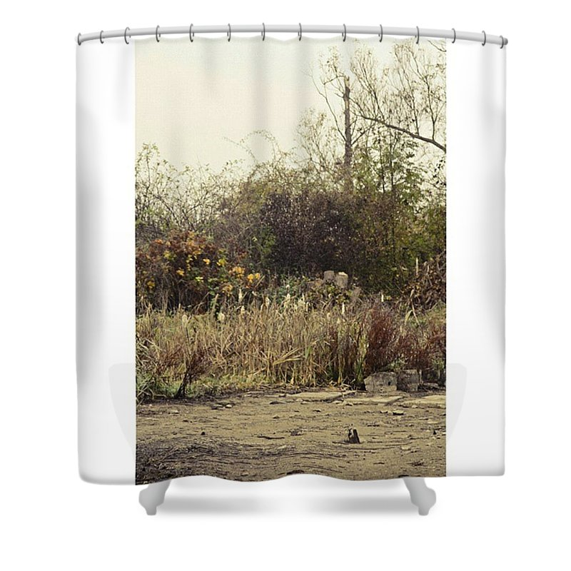 Seaside Shower Curtain featuring the photograph Walking By The Lake  #landscape #lake by Mandy Tabatt