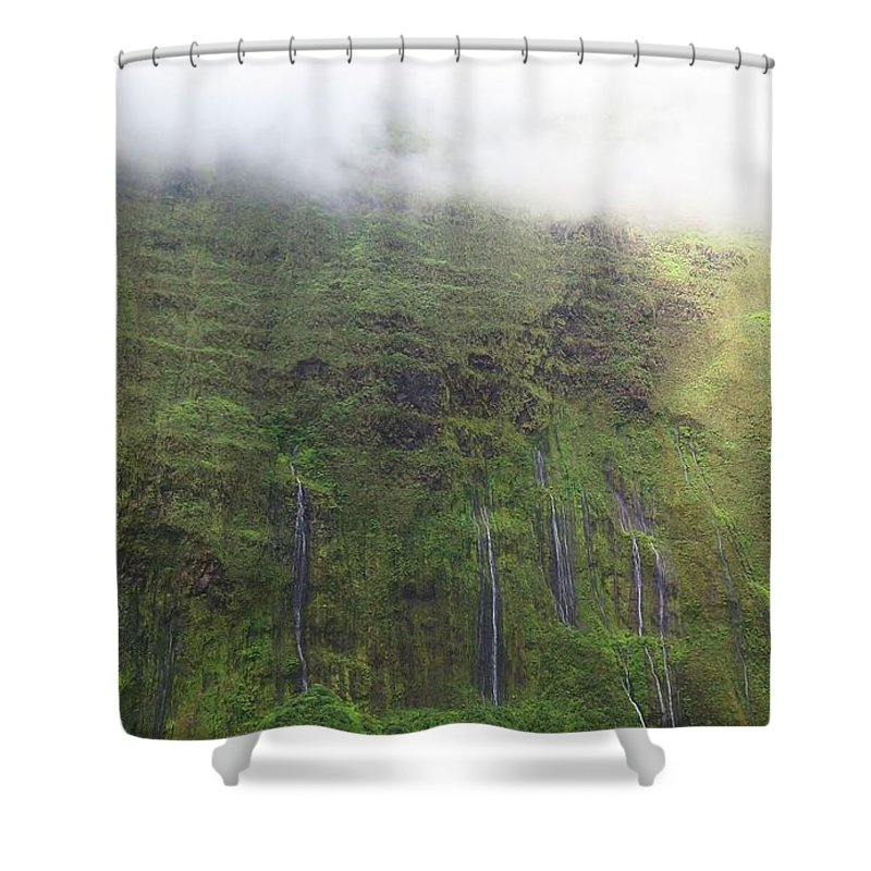 Wall Of Tears At Molokai Island Shower Curtain For Sale By Stacia Weiss