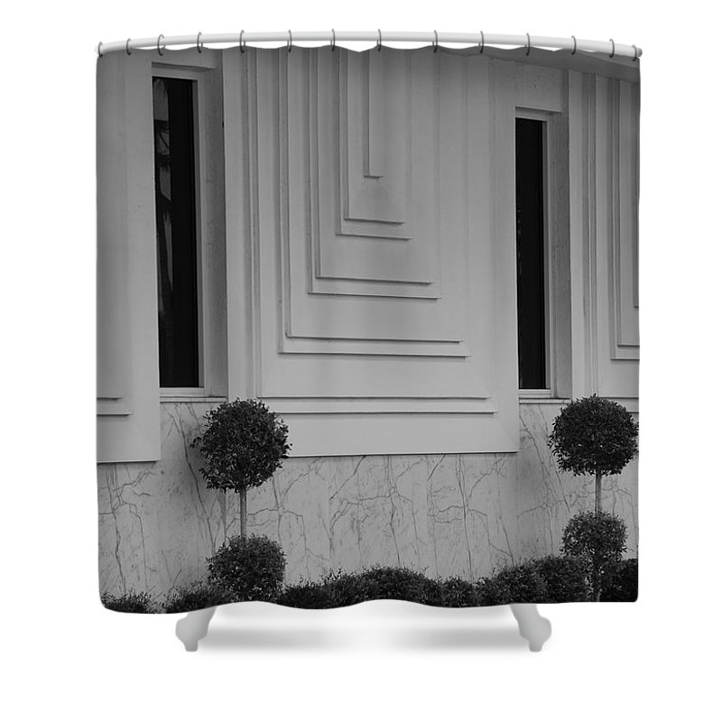 Architecture Shower Curtain featuring the photograph Walls And Windows by Rob Hans