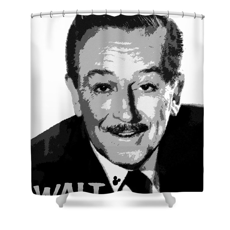 Art Shower Curtain featuring the painting Walt by David Lee Thompson