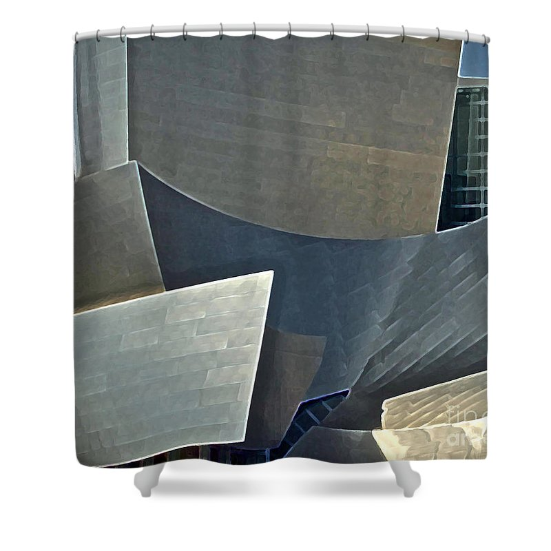 Philharmonic Shower Curtain featuring the photograph Walt Disney Concert Center by Gwyn Newcombe