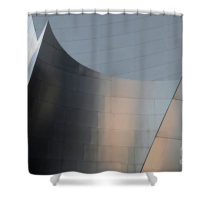 Disney Shower Curtain featuring the photograph Walt Disney Concert Hall 23 by Bob Christopher