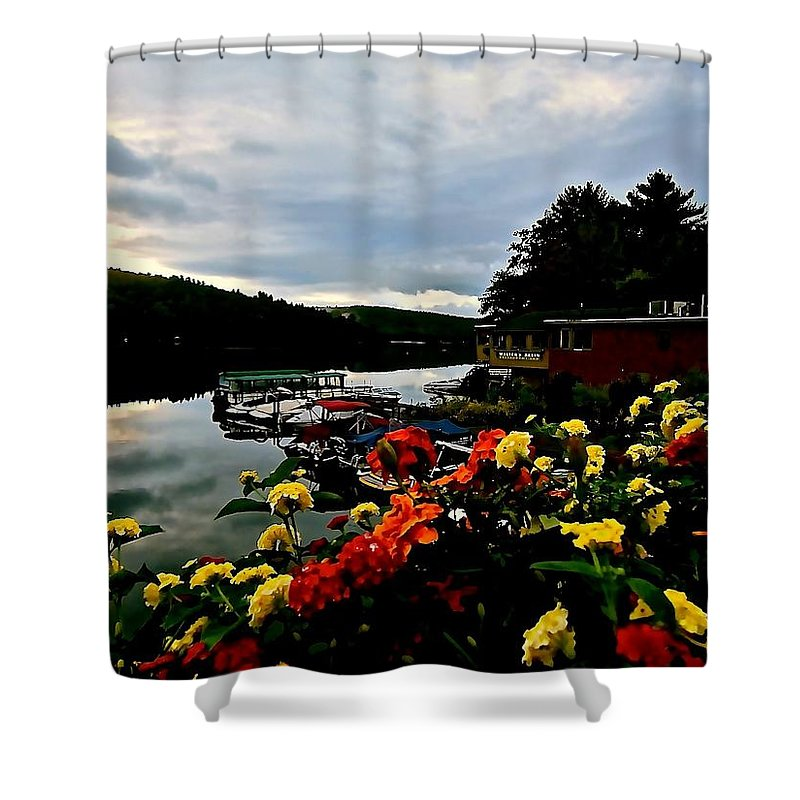 Lake Shower Curtain featuring the photograph Walter's Basin 3 by Elizabeth Tillar