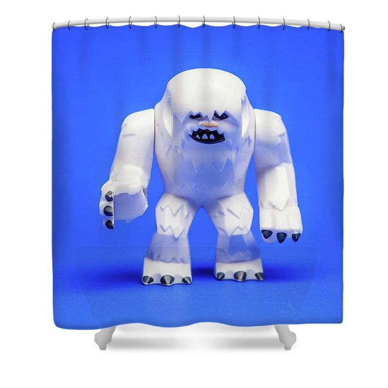 Abominable Snowman Shower Curtains | Fine Art America