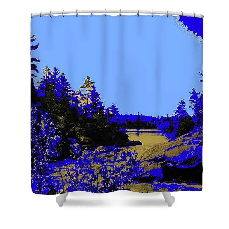 Northern Shower Curtain featuring the photograph Wanapitae River Morning by Ian MacDonald