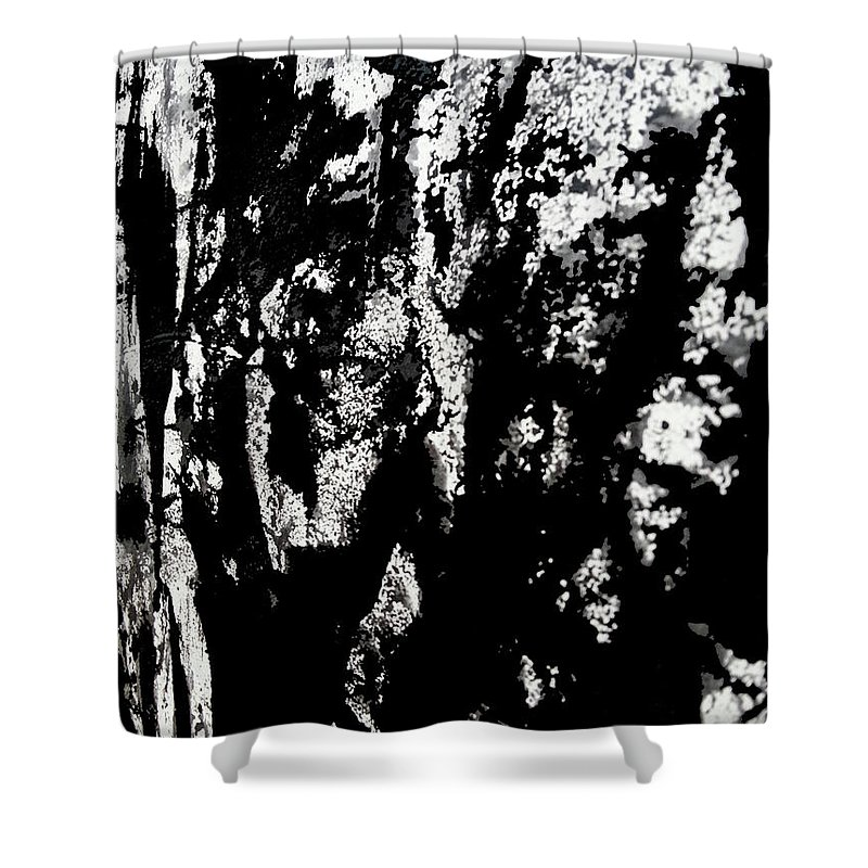 Art Shower Curtain featuring the mixed media War 1 by Nour Refaat