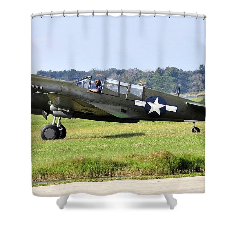 War Bird Shower Curtain featuring the photograph War Bird by David Lee Thompson