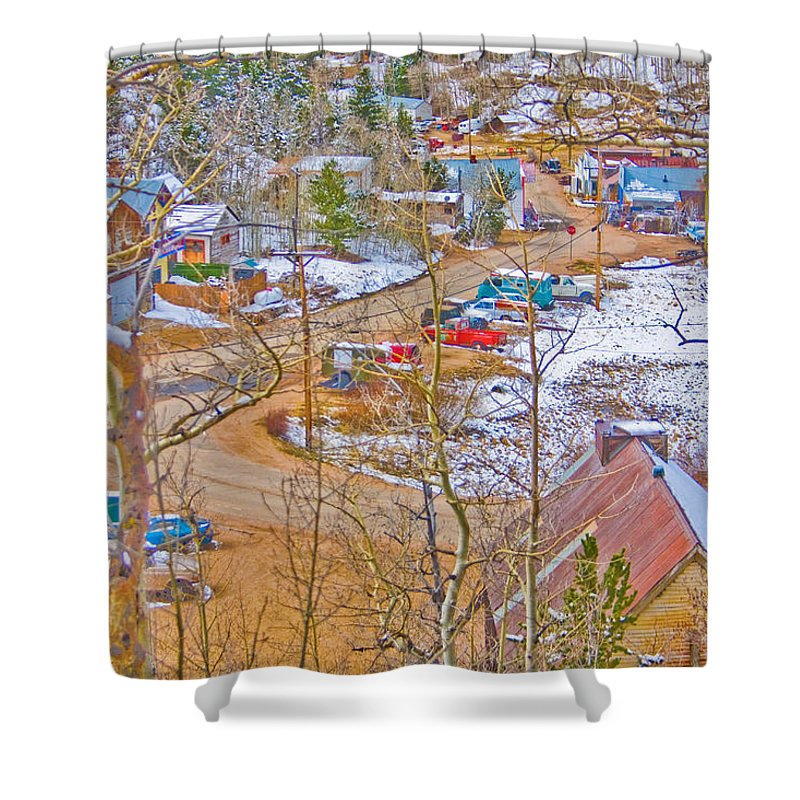 Ward Shower Curtain featuring the photograph Ward Boulder County Colorado by James BO Insogna