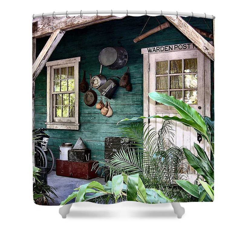 Warden Shower Curtain featuring the photograph Warden Post by Nora Martinez