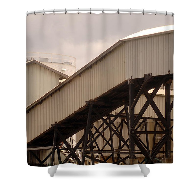 Urban Shower Curtain featuring the photograph Warehouse Passage by Jill Reger