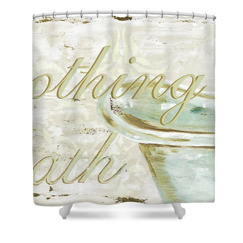 Bath Shower Curtain featuring the painting Warm Bath 1 by Debbie DeWitt