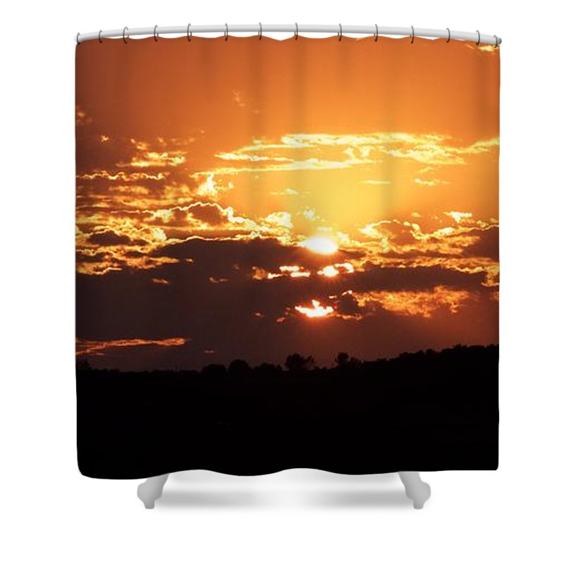 Sunset Shower Curtain featuring the photograph Warm Sunset by Tiffany Erdman