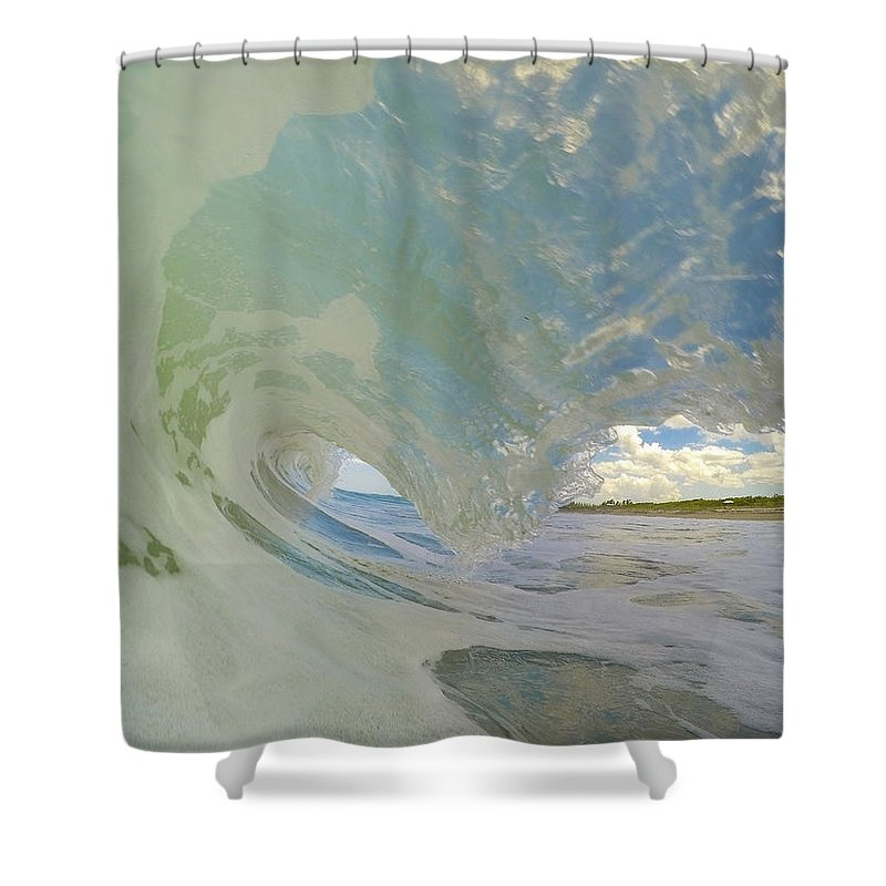 Wave Shower Curtain featuring the photograph Warm Waves by Joshua Powell