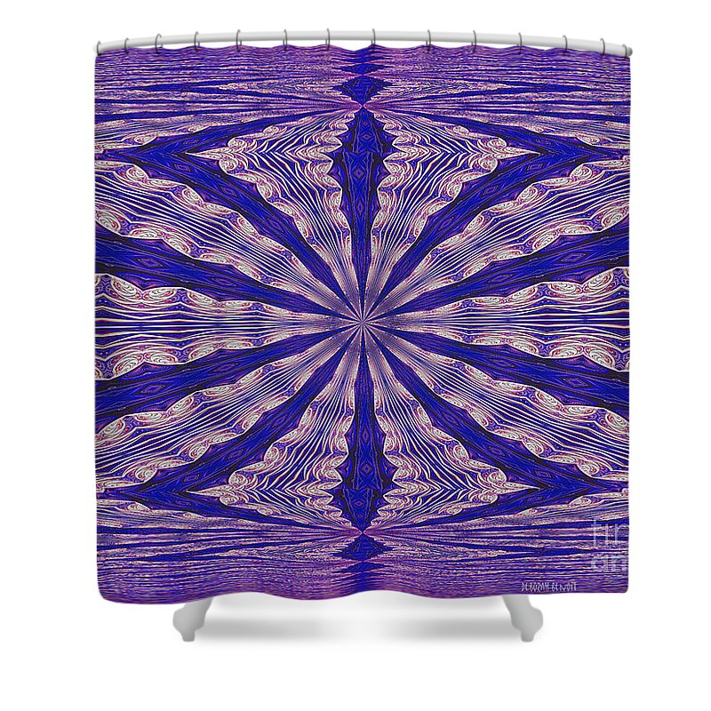 Fractal Shower Curtain featuring the digital art Warped Minds Eye by Deborah Benoit