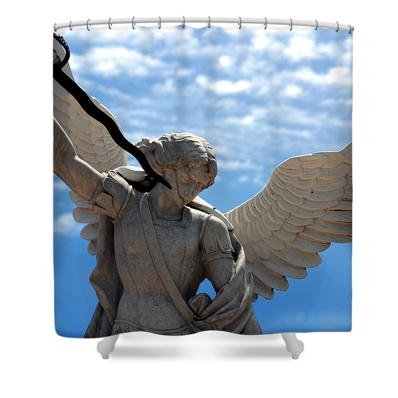 Warrior Shower Curtain featuring the photograph Warrior Angel by Susanne Van Hulst