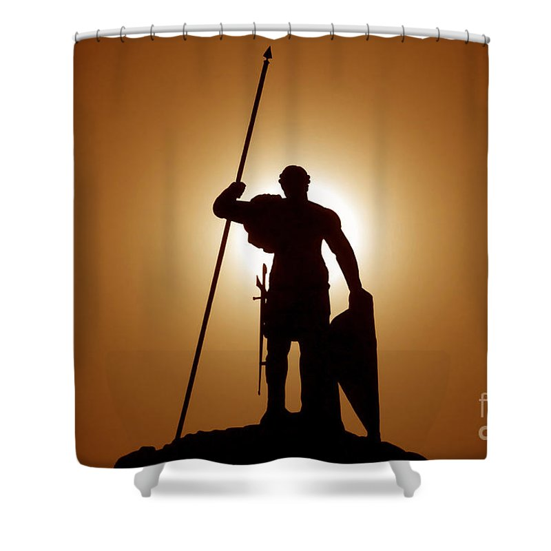 Warrior Shower Curtain featuring the photograph Warrior by David Lee Thompson