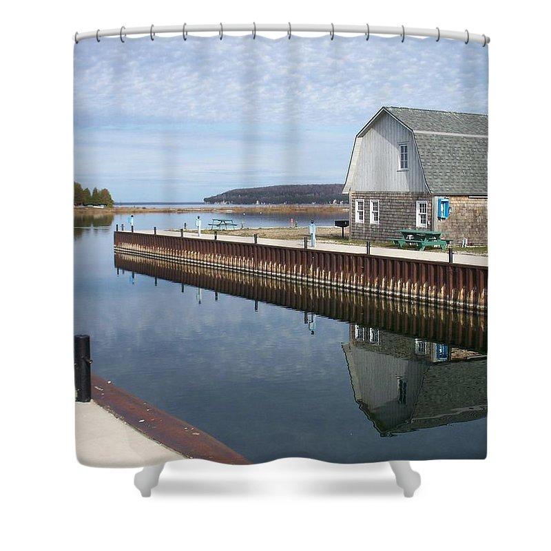 Washington Island Shower Curtain featuring the photograph Washington Island Harbor 2 by Anita Burgermeister