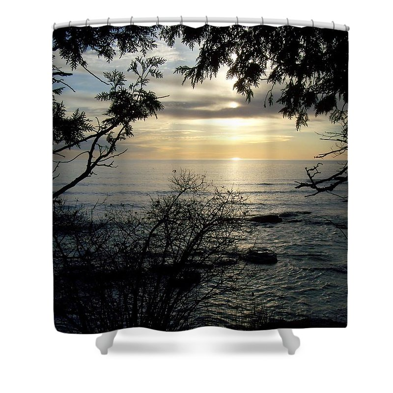 Washington Island Shower Curtain featuring the photograph Washington Island Morning 4 by Anita Burgermeister