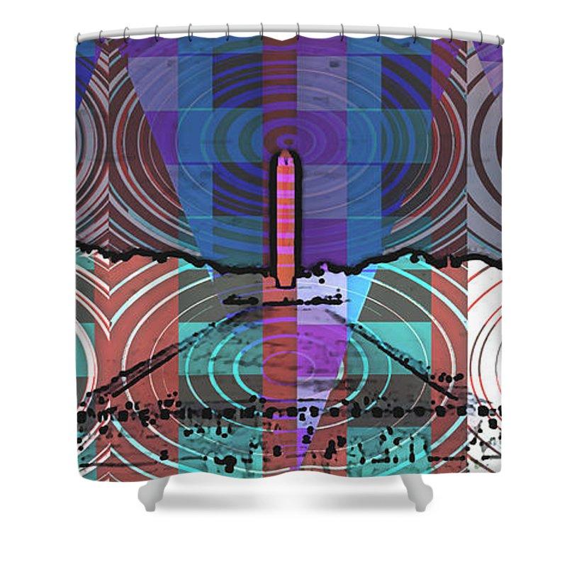 Washinton Monument Shower Curtain featuring the digital art Washington Monument by Richard Bragg