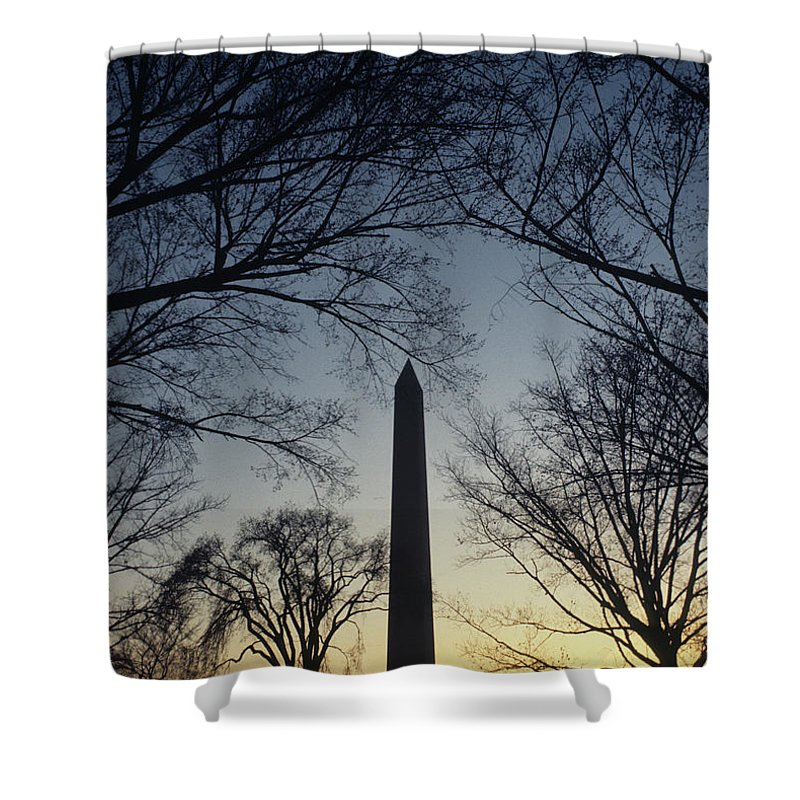 Washington Monument Shower Curtain featuring the photograph Washington Monument by Steve Williams