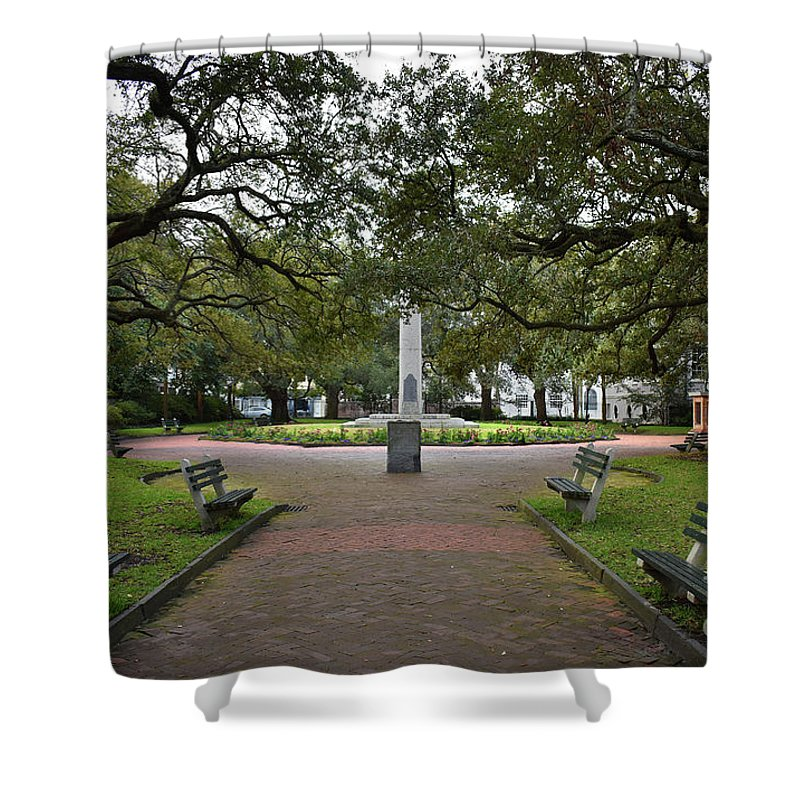 Culture Shower Curtain featuring the photograph Washington Park, Charleston, Sc by Skip Willits