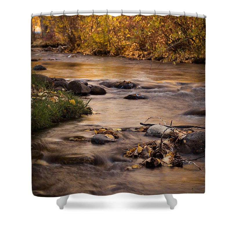 Anaconda Shower Curtain featuring the photograph Washoe Park In Autumn by Sandra McNair