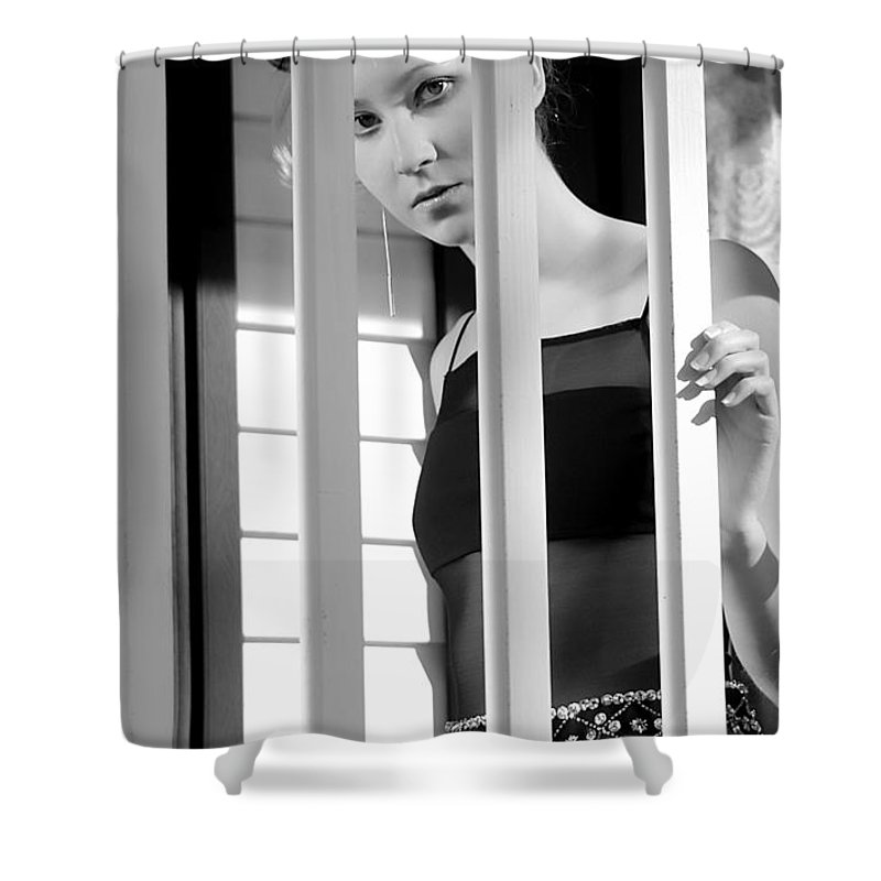 Clay Shower Curtain featuring the photograph Watching by Clayton Bruster