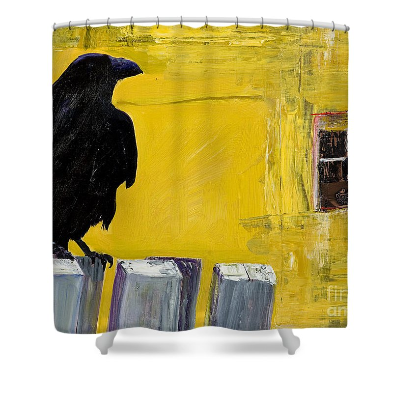Pat Saunders-white Canvas Prints Shower Curtain featuring the painting Watching by Pat Saunders-White