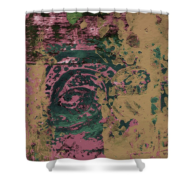 Abstract Shower Curtain featuring the painting Watching by Wayne Potrafka