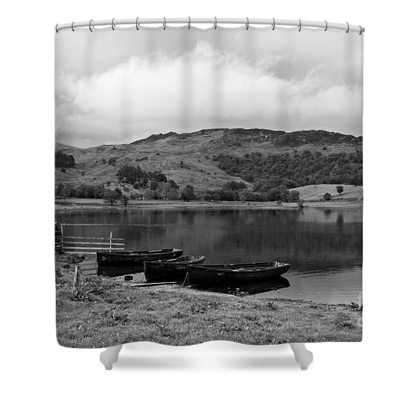 Watendlath Shower Curtain featuring the photograph Watendlath Tarn In The Lake District Cumbria by Louise Heusinkveld