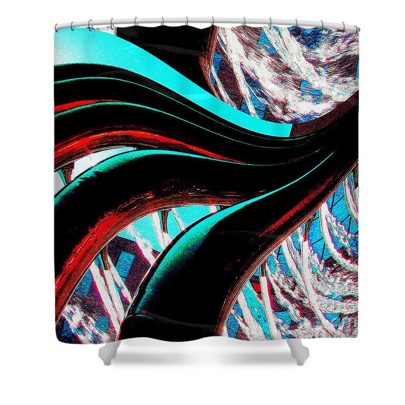 Degital Abstract Art Shower Curtain featuring the digital art Water 4 by Keith Dillon