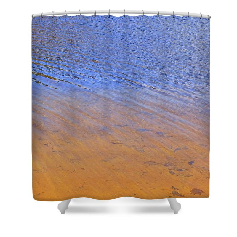 Abstract Shower Curtain featuring the photograph Water Abstract - 2 by Arlane Crump