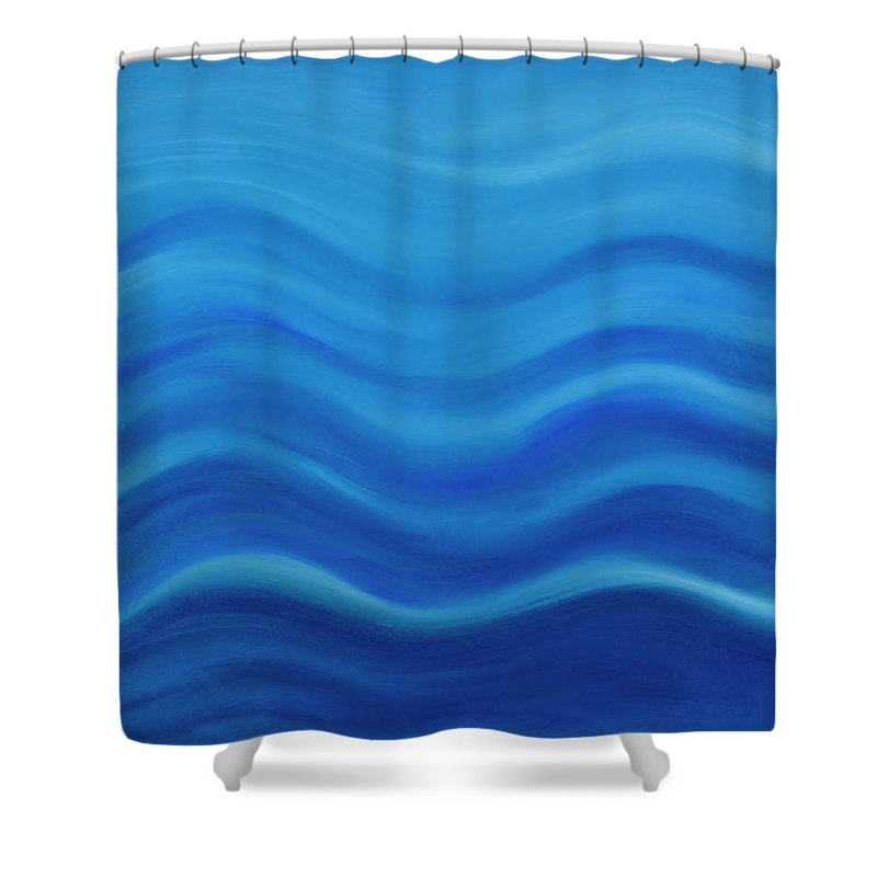 Water Shower Curtain featuring the painting Water by Adamantini Feng shui