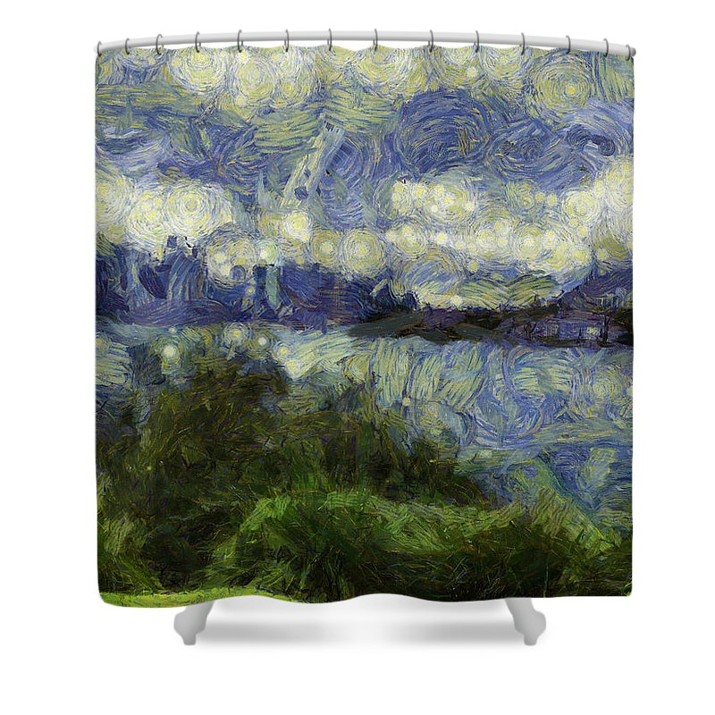 Artistic Shower Curtain featuring the photograph Water Beyond by Ashish Agarwal