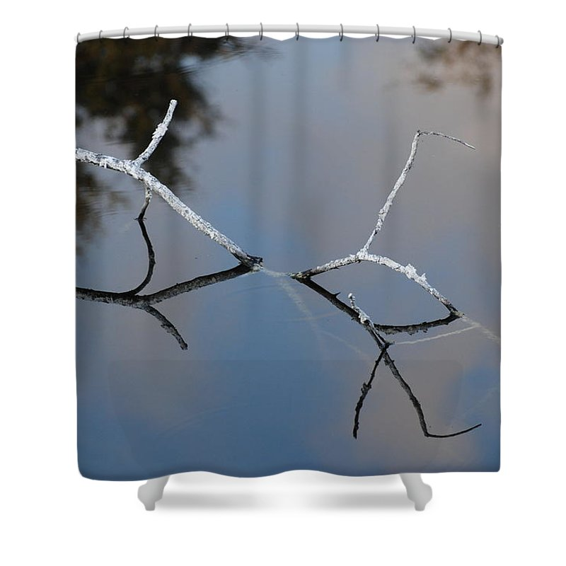Wood Shower Curtain featuring the photograph Water Bridge In Color by Rob Hans