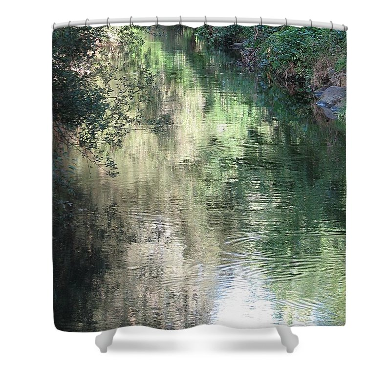 Reflection Shower Curtain featuring the photograph Water Color by Kelly Mezzapelle