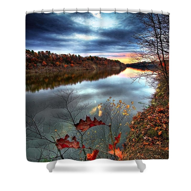 Mohawk River Shower Curtain featuring the photograph Water Colors by Neil Shapiro