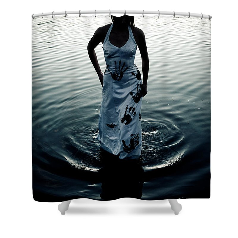 Hand Prints Shower Curtain featuring the photograph Water Dress by Scott Sawyer