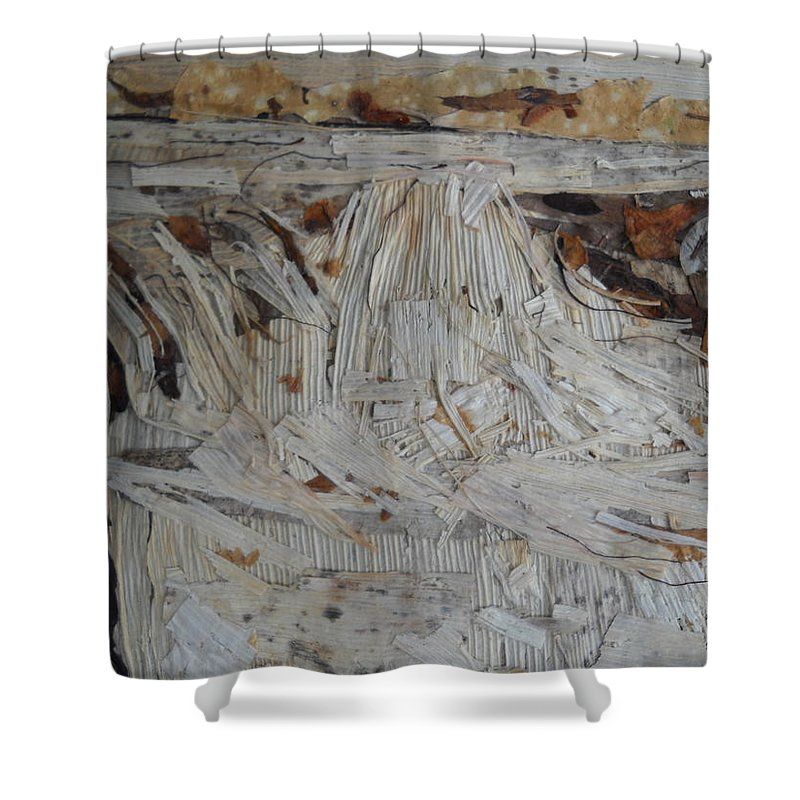 Water Fall Shower Curtain featuring the mixed media Water-fall After Rainy Season by Basant Soni