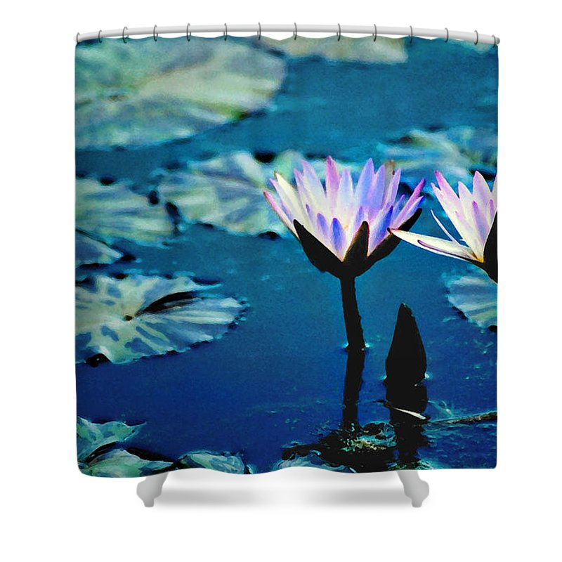 Waterscape Shower Curtain featuring the photograph Water Glow by Steve Karol