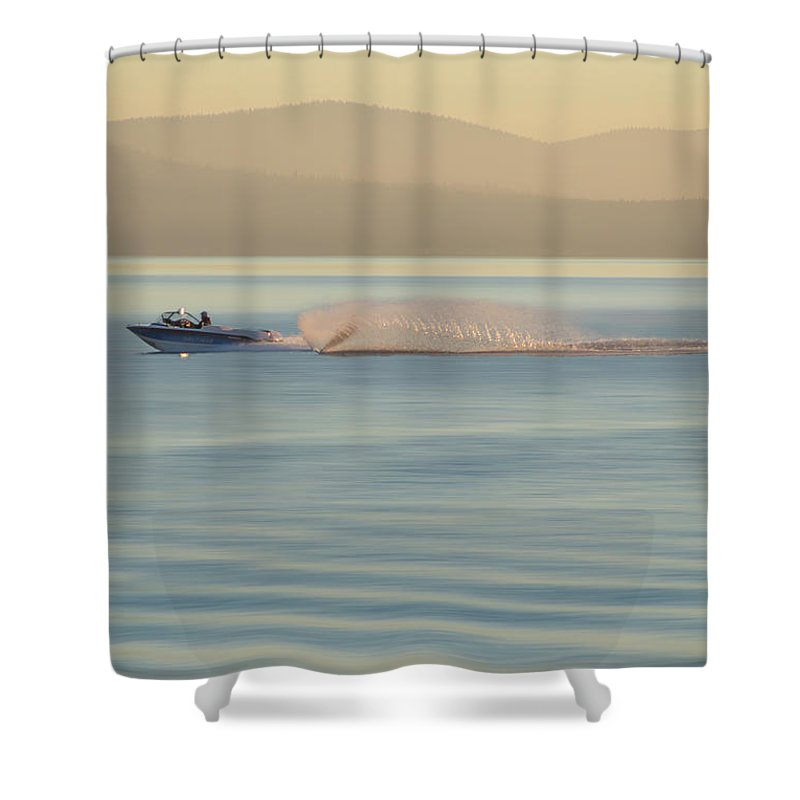 Lake Tahoe Shower Curtain featuring the photograph Water Like Glass by Wes Jimerson