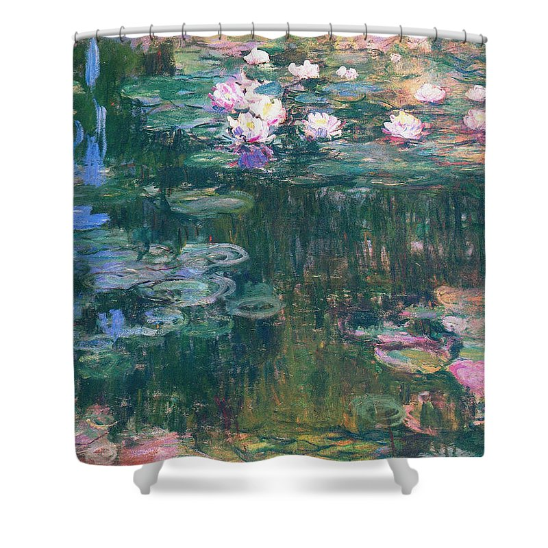Water Shower Curtain featuring the painting Water Lilies 1917 4 by Claude Monet