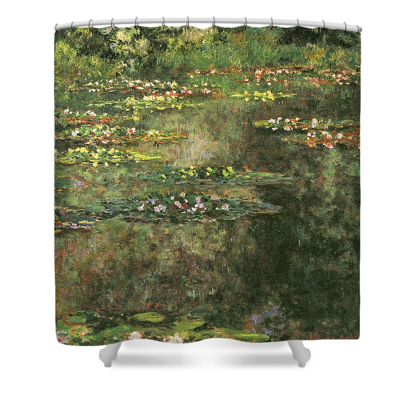 Flower Shower Curtain featuring the painting Water Lilies 4 by Claude Monet