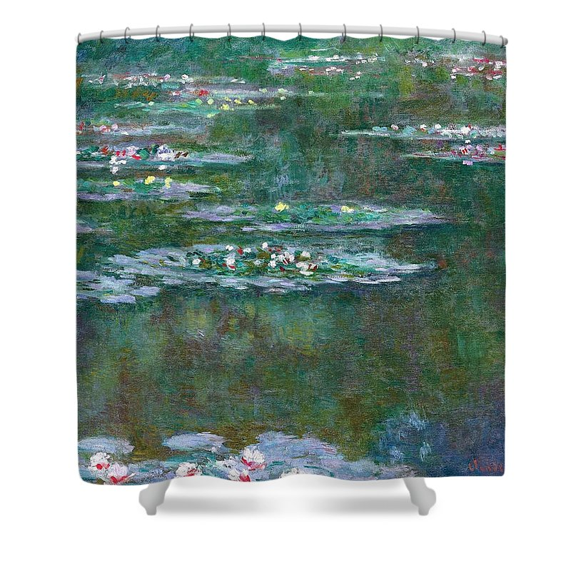 Water Shower Curtain featuring the painting Water Lilies 5 by Claude Monet