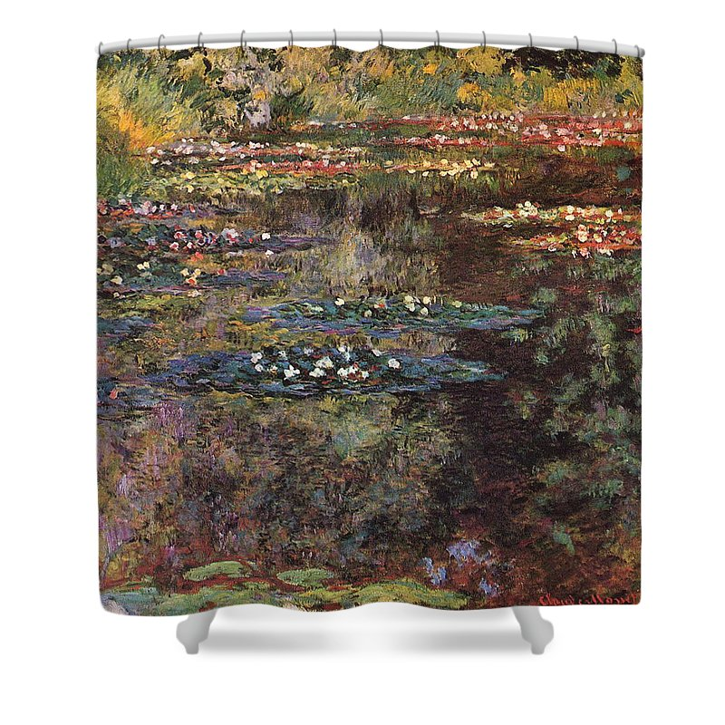 Water Shower Curtain featuring the painting Water Lilies 7 by Claude Monet