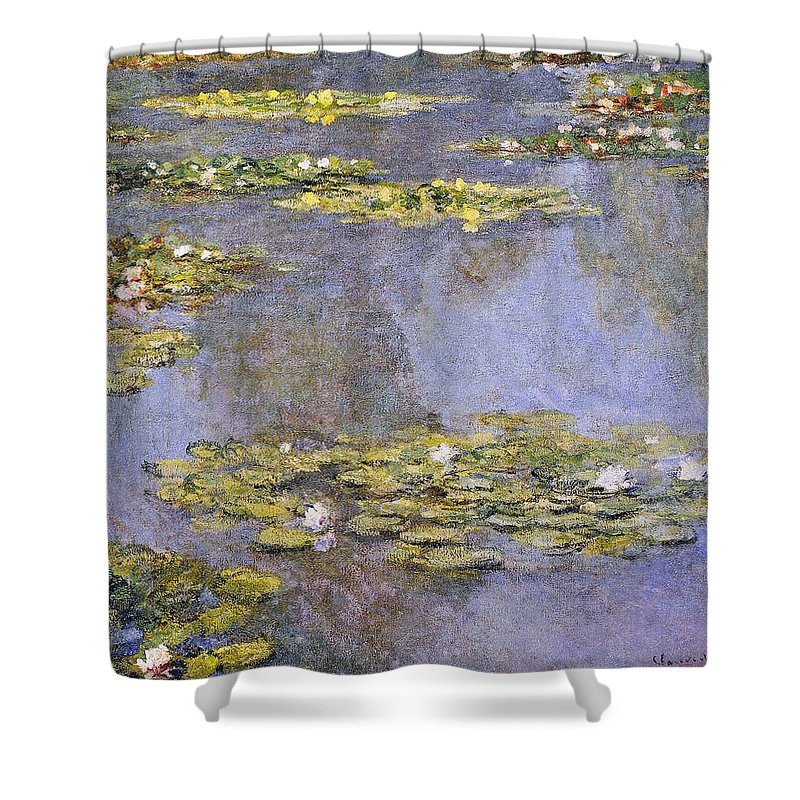 Water Shower Curtain featuring the painting Water Lilies 8 by Claude Monet